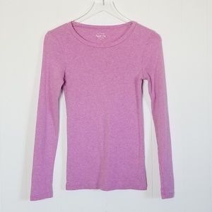 J. Crew | Perfect Fit Long Sleeve Tee Lilac Sz.S